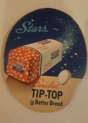 1940s Wards Tip Top Bread Cardboard Advertising Fan