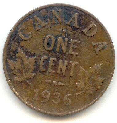 Canada 1936 Penny Canadian 1 Cent One 1c *EXACT* COIN