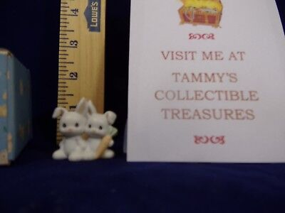 Vintage Precious Moments~1992~Two By Two Little Bunnies No.230123 Trumpet