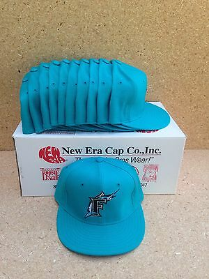 Lot Of 11 Vintage Florida Marlins New Era 5950 59FIFTY Size 7 1/8 Fitted Cap Hat