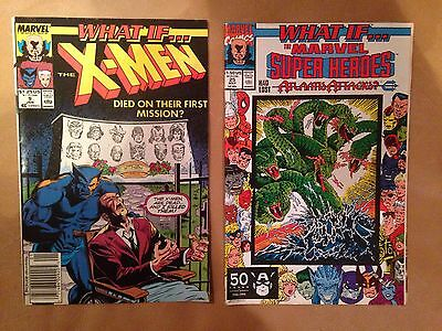 What If... The X-Men & The Marvel Super Heroes - Two Comics - Marvel 1990 & 1991