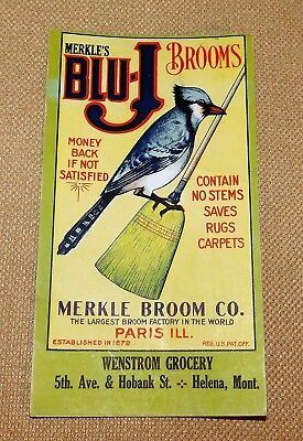 Wenstrom Grocery Helena Montana advertising Ink Blotter Blu-J Brooms