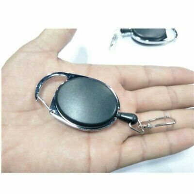 Retractable Reel Key Chain Pull Key ID Card Badge Tag Clip Holder Buckle Style E