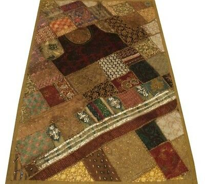 """60"""" Boho Chic Necks Patchwork Vintage Textile Indian Wall Décor Tapestry Hanging"""