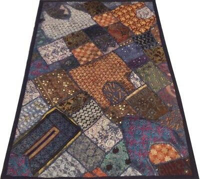 """60"""" Great Home Vintage India Décor Style Sari Necks Wall Tapestry Hanging Throw"""