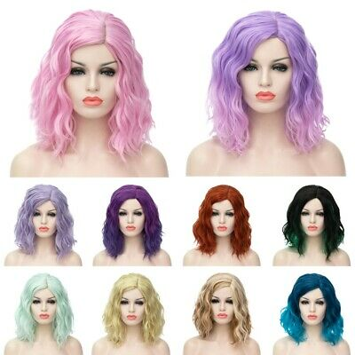 12 Colors Heat Resistant Curly Medium Anime Cosplay Synthetic Lolita Full Wig