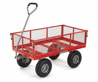 Gorilla Carts GOR800-COM Steel Utility Cart with Removable Sides, 800-Pound C...