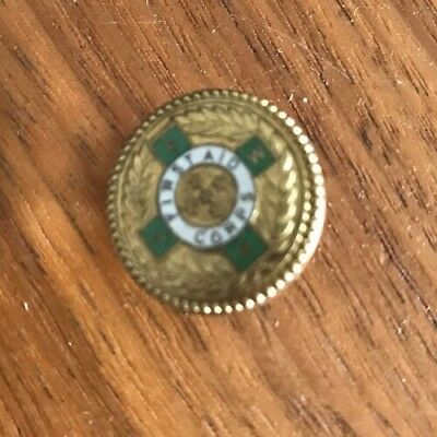 First Aid Corps Button Marked 9ct