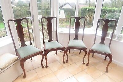 4 Victorian Antique Dining Chairs