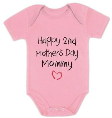 Happy 2nd Mothers Day Mommy Infant Baby One Piece Cute Bodysuit Gift Idea
