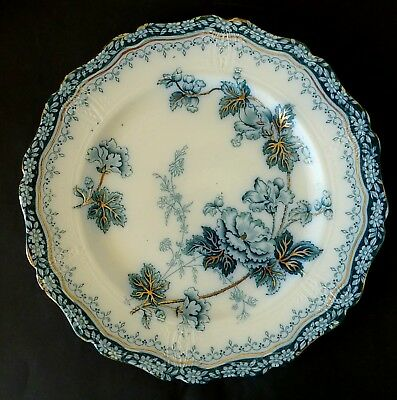 ANTIQUE wall display dinner PLATE Danube HENRY ALCOCK ART NOUVEAU Japanese inf.