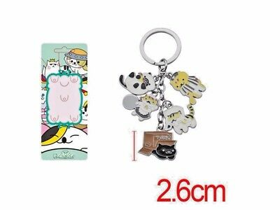 US Seller Japanese Neko Atsume Cat Backyard Anime Keychain Strap #mao-027
