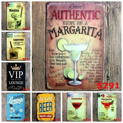 Tin Metal Sign Plaque Bar Pub Vintage Retro Wall Decor Poster Home Group DJ8