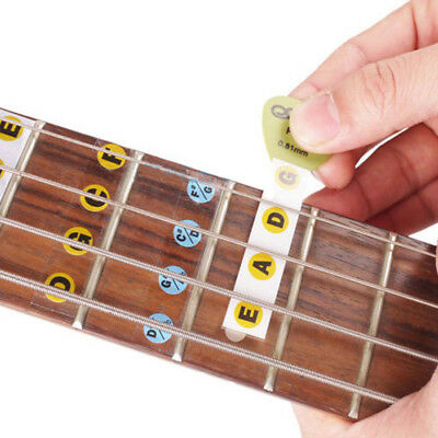 New Bass Guitar Fretboard Scale Labels Stickers For Beginners Learning CMX