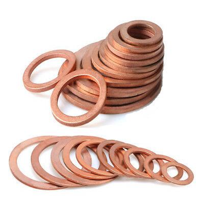 20pc Brass Flat Washer Gasket Copper Crush Washer Seal Ring Fr Boat High Quality