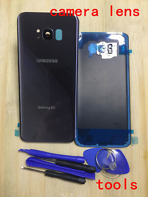 Glass Gray Back Cover Battery Door+Camera Lens for Samsung Galaxy S8+Plus g955