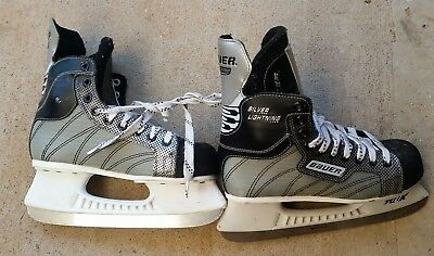 bauer silver lighting size 6 US