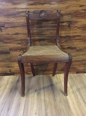 Antique Ornate Wooden Rush/Lace Seat Chair/Hallway/Bedroom/Dining Room