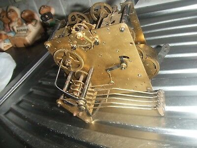 Vintage Clock Brass Westminster Chimes Movement Spares Repair Parts