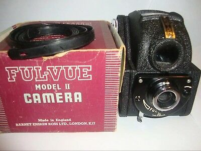 Minty ENSIGN FUL-VUE Model II Vintage Camera c1946 - In Old Box, Shutter issue