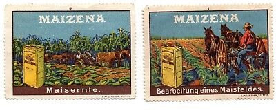 Germany Post Stamps x 2 -Maizena Unused but no gum