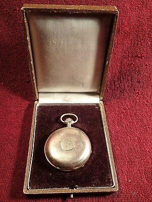 1890-s ANTIQUE 94.6 gr GOLD 14K POCKET WATCH PAVEL BURE BUHRE IMPERIAL RUSSIA