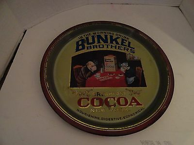 Bunkel Brothers - Breakfast Cocoa Ny - Large 12 1'2 Inch Tray - Made In England