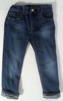 J. Crew CREWCUTS Jersey-Lined Boys Rugged Wash Denim Jeans - US 6