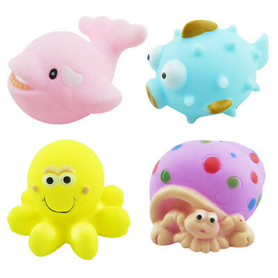 BABY SEASIDE SQUIRT BATH RUBBER TOYS BATH TIME SQUIRTING WATER TOY FLOAT FUN 20X Bath Toys