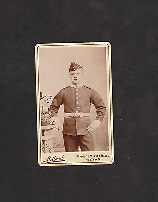 19th century CDV photo British soldier photographer James Millard, Wigan England