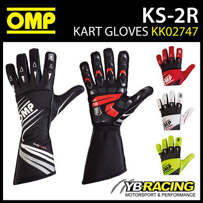 KK02747 OMP KS-2R KARTING GLOVES in 5 COLOURS ADVANCED KART DESIGN KS 2 R