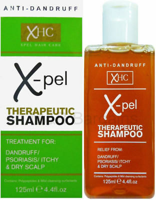 ANTI DANDRUFF TREATMENT XPEL THERAPEUTIC SHAMPOO PSORIASIS ITCHY DRY SCALP 125ml