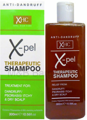 ANTI DANDRUFF TREATMENT XPEL THERAPEUTIC SHAMPOO PSORIASIS ITCHY DRY SCALP 300ml