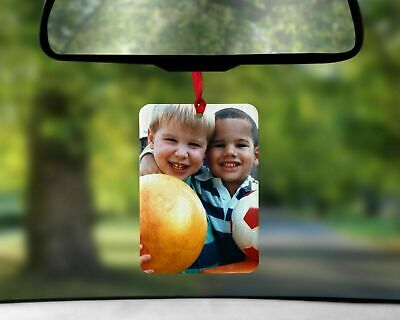 Personalised  Photo Car Air Freshener double sided