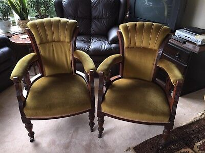 2 Old tub chairs x2 Antique ????