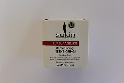Sukin Purely Ageless Replenishing Night Cream Paraben-Free - 60ml