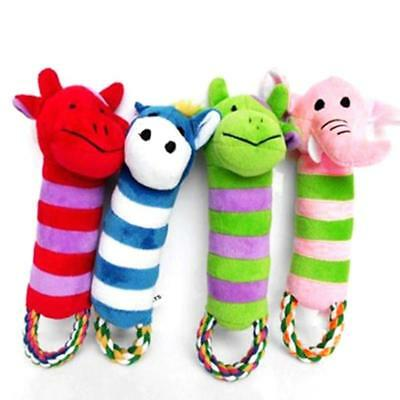 Cute Plush Sound Funny Soft Pet Puppy Chew Play Squeaker Squeaky For Dog  kpls