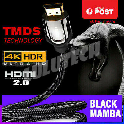 4K Ultra HD Premium HDMI Cable V2.0 3D High Speed Ethernet 1m 3m 5m Gold Plated