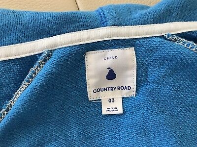 Countryroad boys cotton terry hoody size 3
