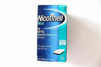 Nicotinell Mint 2mg Medicated Chewing Gum Regular Strength Gum - 96 Pieces