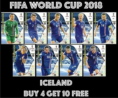 Iceland Panini World Cup 2018 Adrenalyn Xl