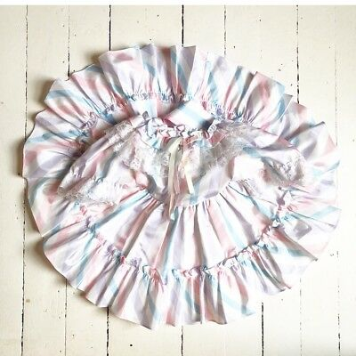 Vintage toddler baby Easter party ruffle lace twirl dress