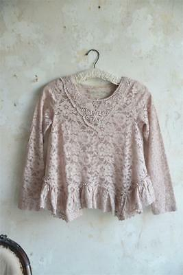 Jeanne d´Arc Living Bluse Pure Glory Tearose L Shabby Chic Vintage Kleidung Mode