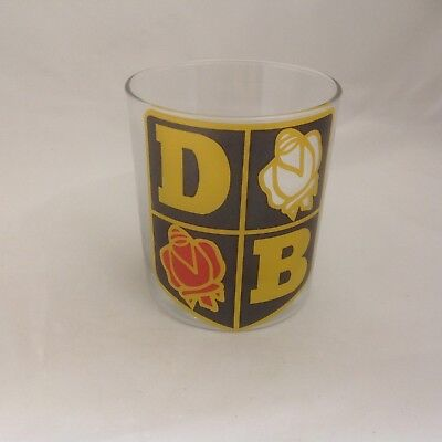 David Brown Tractor Badge On Large Heavey Base Whisky Tumbler Glass