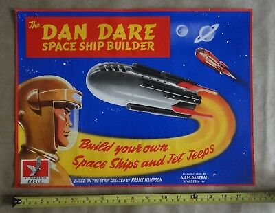 Dan Dare Space Ship Builder Advertisement Poster.16 X 12 Inches.