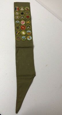 Vintage 1960's BSA Boy Scouts Of America Sash With Merit Badges