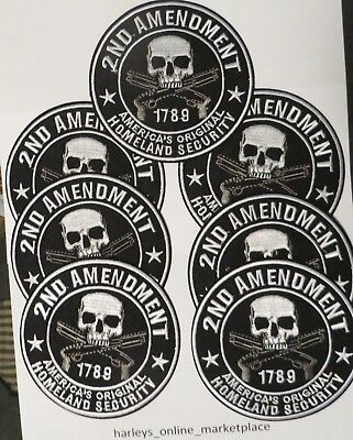 7 patches of 2nd Amendment motorcycle biker patch, New, USA seller, ships fast