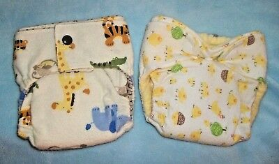 Newborn/XS Fitted Cloth Diapers, Chicks and Jungle animals