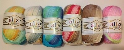 Alize Bahar 100% mercerized cotton yarn 6 x 100g balls