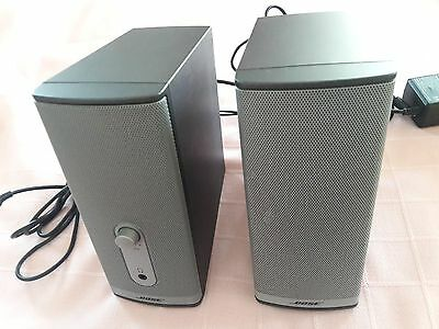 Bose Computer Speakers Companion 2 Series II with Bose adapter & Cables Tested